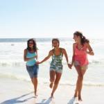 running, beach
