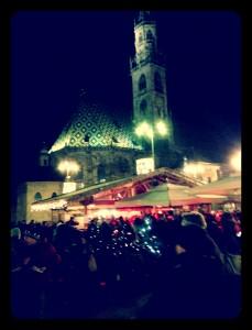 Bolzano Christmas Market at Night