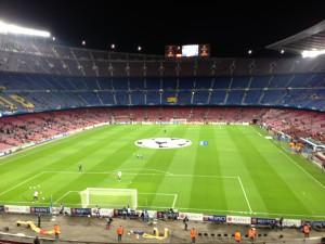 Camp Nou before crowds arrive