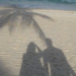 beach, shadows