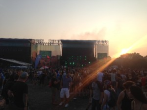 osheaga main stage sunset